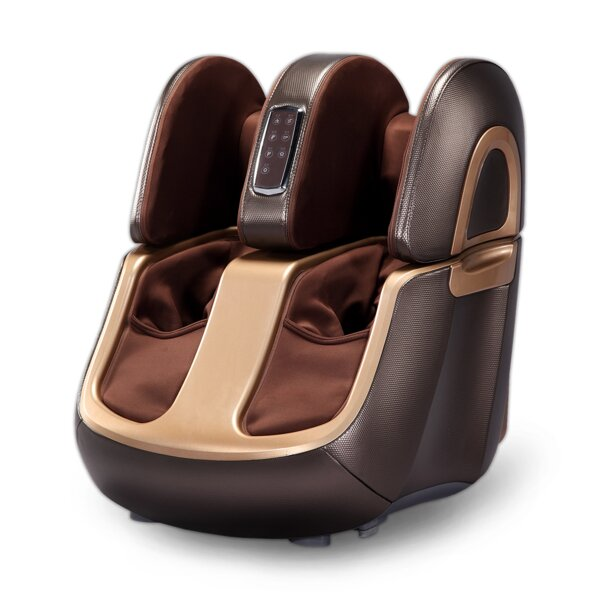 Foot & Calf Genuine Leather Reclining Massage Chair By Latitude Run