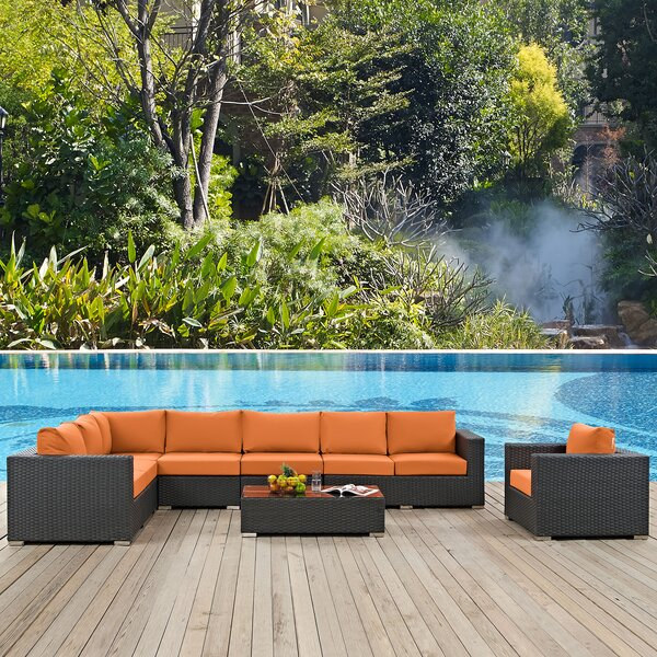 Tripp 7 Piece Patio Sunbrella Sectional Seating Group with Cushions by Brayden Studio