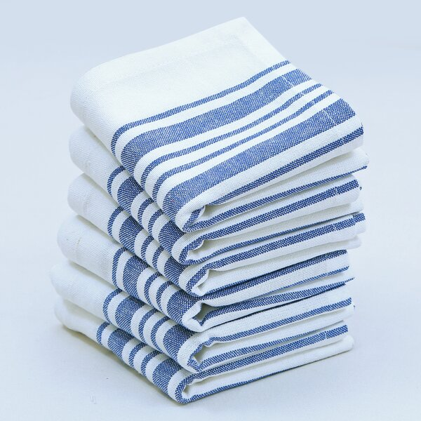 Gail Stripes Cotton Napkin (Set of 6) by August Grove