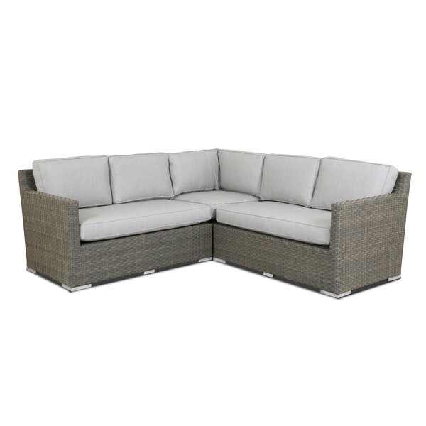Majorca Patio Sectional with Sunbrella Cushions by Sunset West Sunset West
