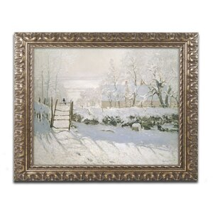 The Magpie, 1869 by Claude Monet Framed Painting Print by Trademark Fine Art