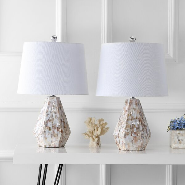 Crichton Seashell 21 Table Lamp (Set of 2) by Rosecliff Heights