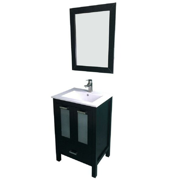 Hirst 24 Single Bathroom Vanity Set with Mirror by Latitude Run