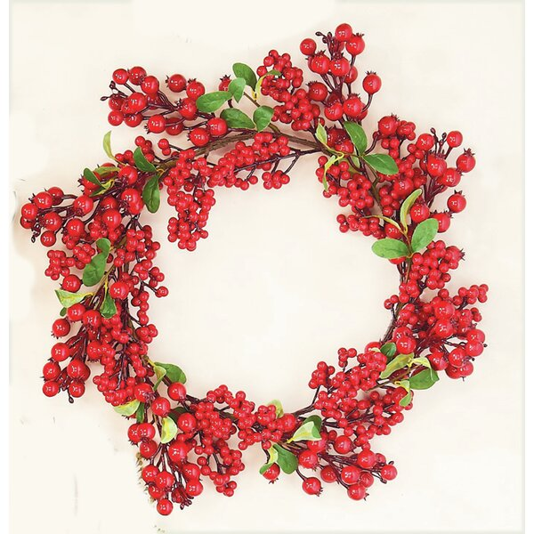 Waterproof Berry Leaf Wreath by Worth Imports