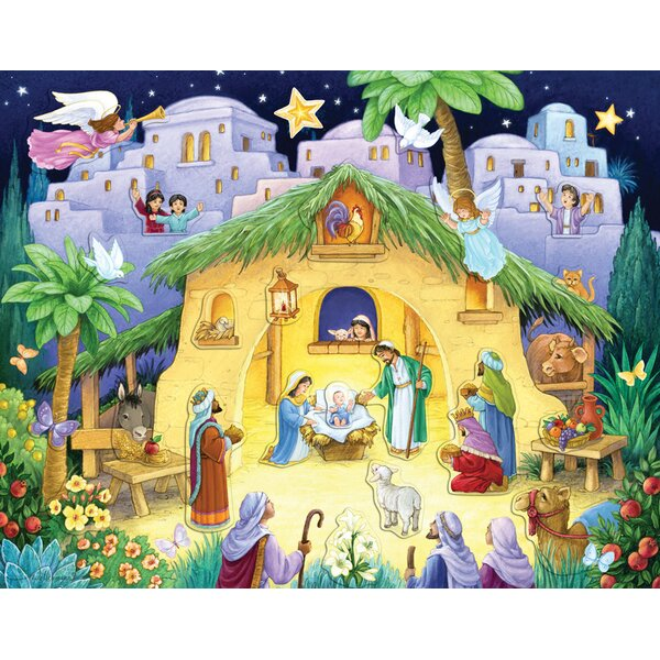 Kids Nativity Sticker Advent Calendar by The Holiday Aisle