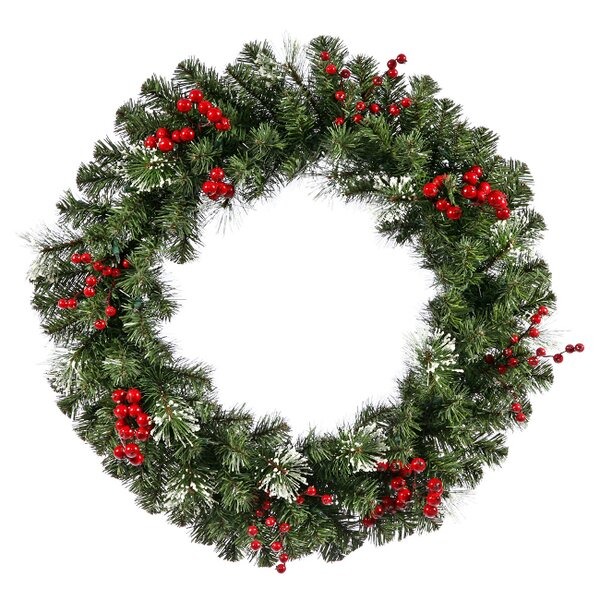Artificial Siegal 30 Berry Pine Wreath by Vickerman