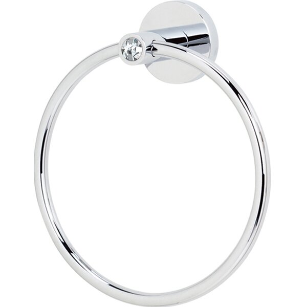 Swarovski Crystal Wall Mounted Towel Ring by Alno Inc