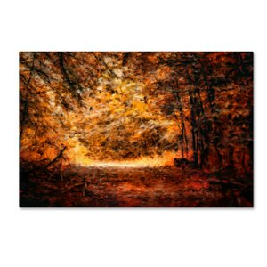 'A Golden Journey' Graphic Art Print on Wrapped Canvas by Trademark Fine Art