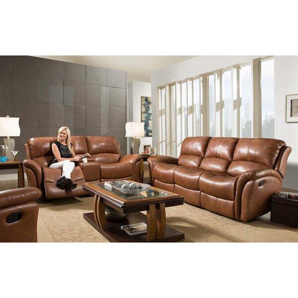 Czapla Reclining 3 Piece Leather Living Room Set by Orren Ellis