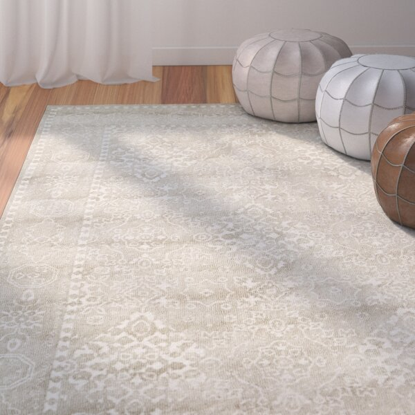 Anamaria Hand-Woven Light Brown Area Rug by Bungal