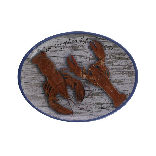 Nichole Melamine Platter by Breakwater Bay