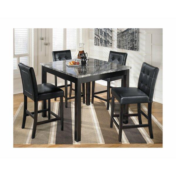 Liska 5 Piece Counter Height Dining Set by Ebern Designs
