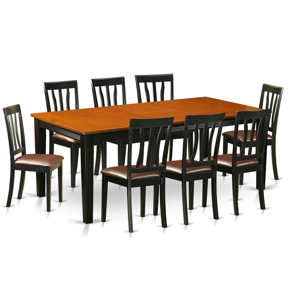 Loraine 9 Piece Extendable Solid Wood Dining Set by Red Barrel Studio