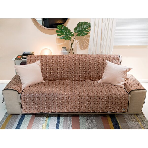 Dogs Rough Gem Box Cushion Loveseat Slipcover By Red Barrel Studio