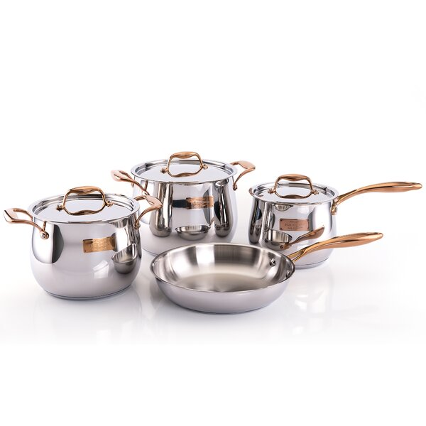 Paris 7 Piece Stainless Steel Cookware Set by Fleischer and Wolf