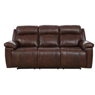 Dakota Power Genuine Leather 3 Seater Reclining Sofa ...