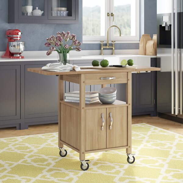 Baca Kitchen Cart with Wooden Top by Red Barrel Studio