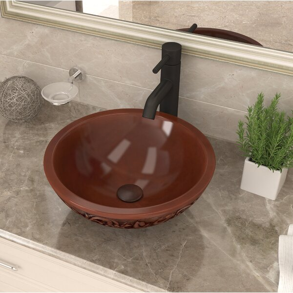 Anchor Metal Circular Vessel Bathroom Sink by ANZZI