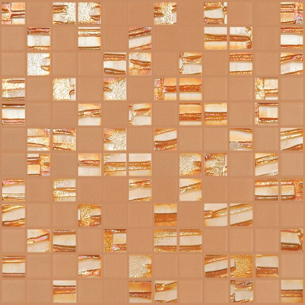 Moon Blends 1 W x 1 L Eco Glass Mosaic in Mimosa by Kellani