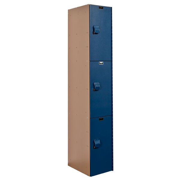 AquaMax 3 Tier 1 Wide School Locker by HallowellAquaMax 3 Tier 1 Wide School Locker by Hallowell
