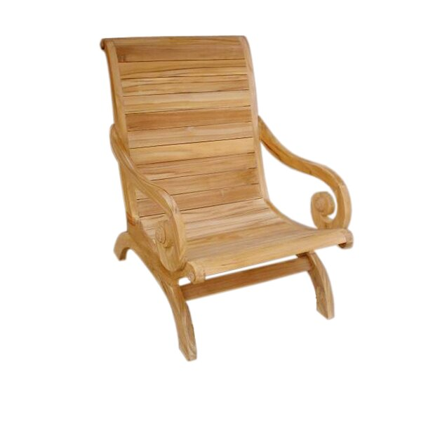 Deirdre Teak Patio Chair by Darby Home Co Darby Home Co