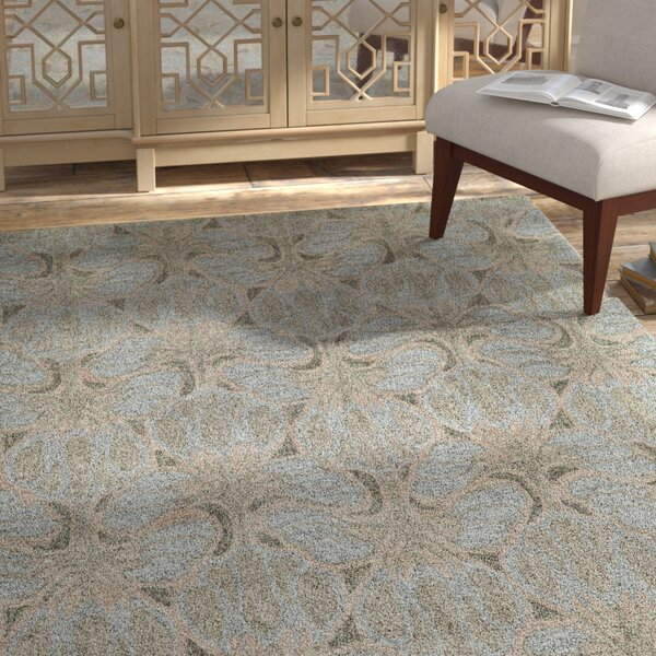 Allen Hand-Tufted Green/Beige Area Rug by Bungalow Rose