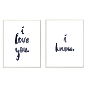 2 Piece 'I Love You, I Know' Glam Wall Plaque Wall Décor Set by Ivy Bronx