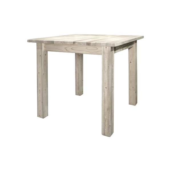Abella Pine Solid Wood Dining Table by Loon Peak Loon Peak
