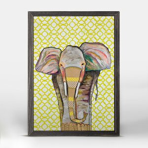 'Trendy Trunk' Framed Acrylic Painting Print on Canvas by Bungalow Rose