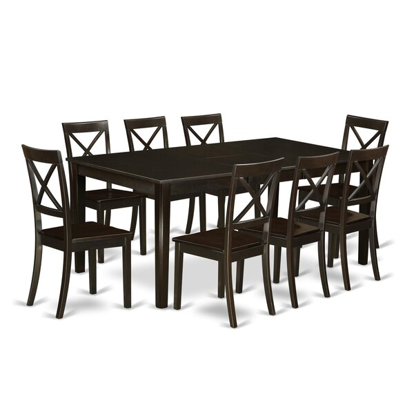 Forada 9 Piece Extendable Solid Wood Dining Set by Red Barrel Studio