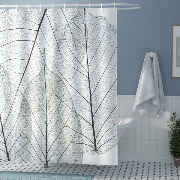 Borden Minimalist Borden Plant Shower Curtain by Winston Porter