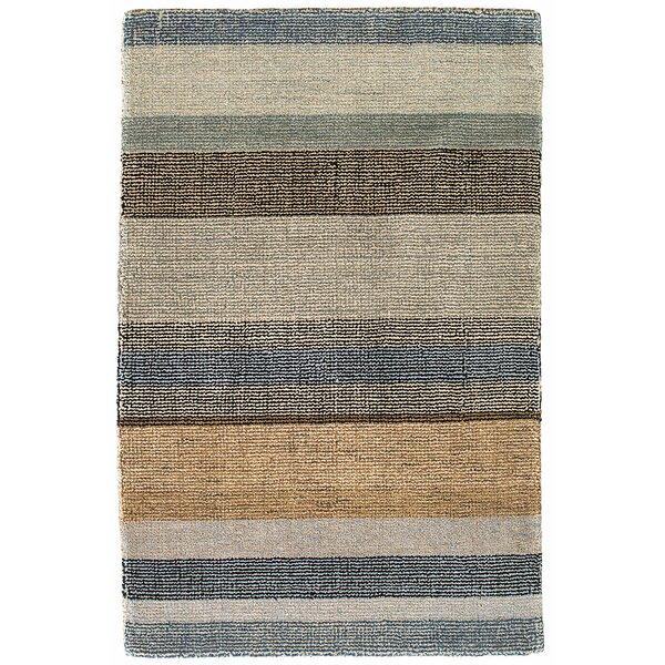 Birchwood Stripe Hand-Hooked Beige/Gray Area Rug by Dash and Albert Rugs
