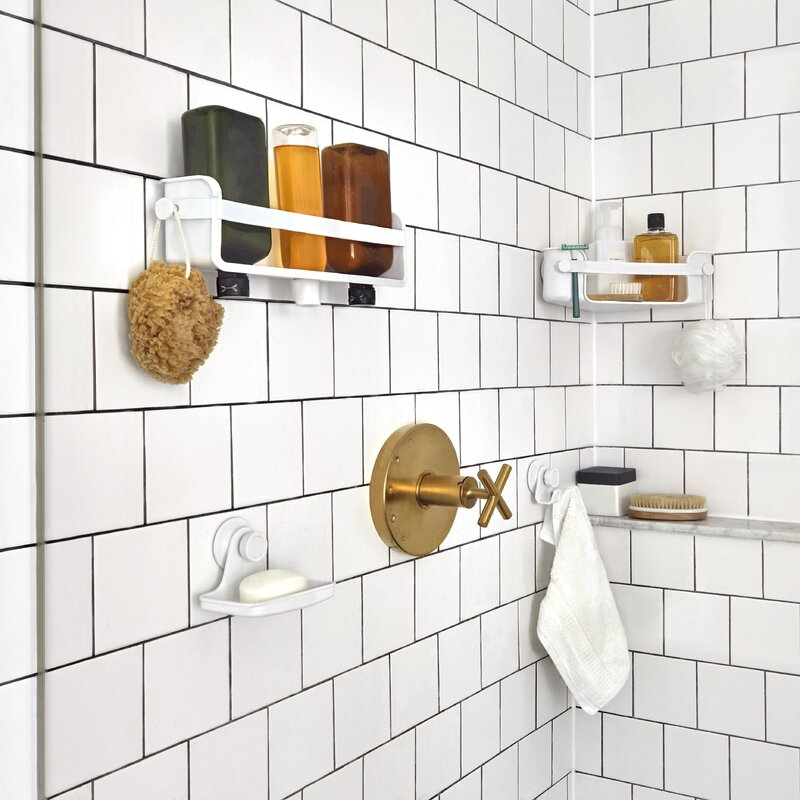 Flex Plastic Suction Shower Caddy & Reviews | AllModern