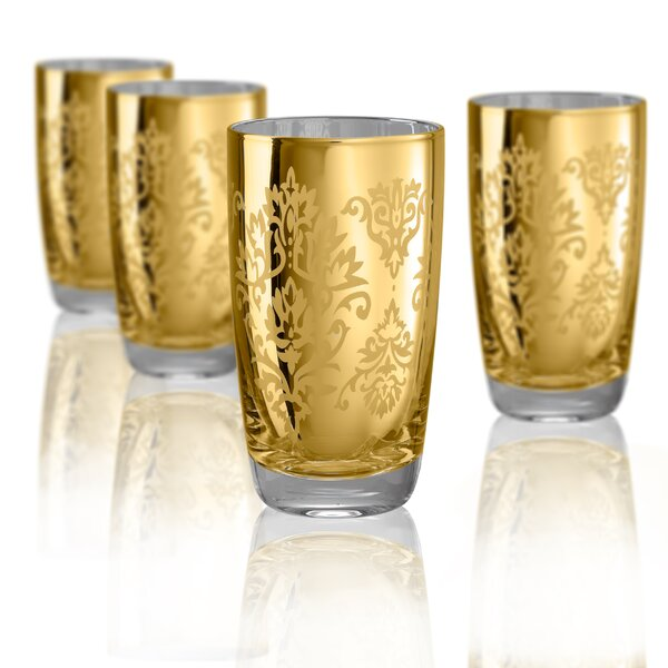 Aveline 18 oz. Glass Highball Glass (Set of 4) by Willa Arlo Interiors