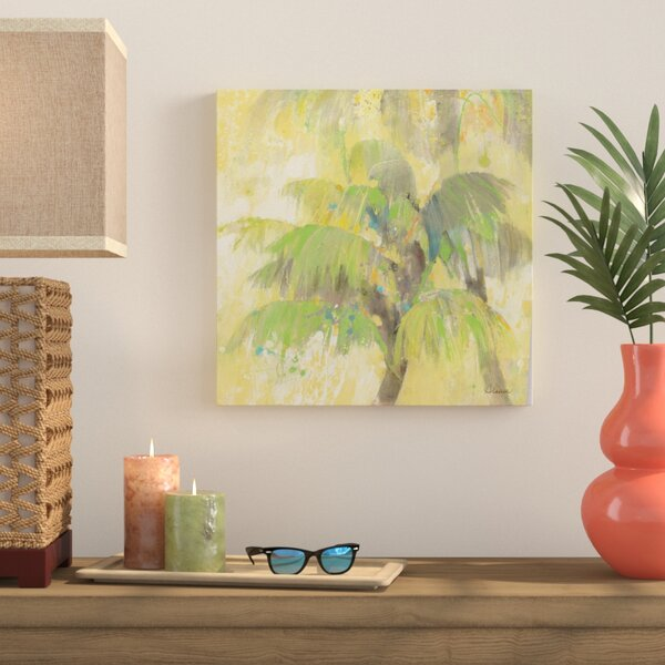 'Breezy Palm II' by Albena Hristova Painting Print on Wrapped Canvas by Bay Isle Home