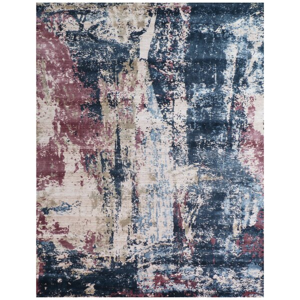 Antolini Hand-Woven Blue/Ivory Area Rug by Exquisite Rugs