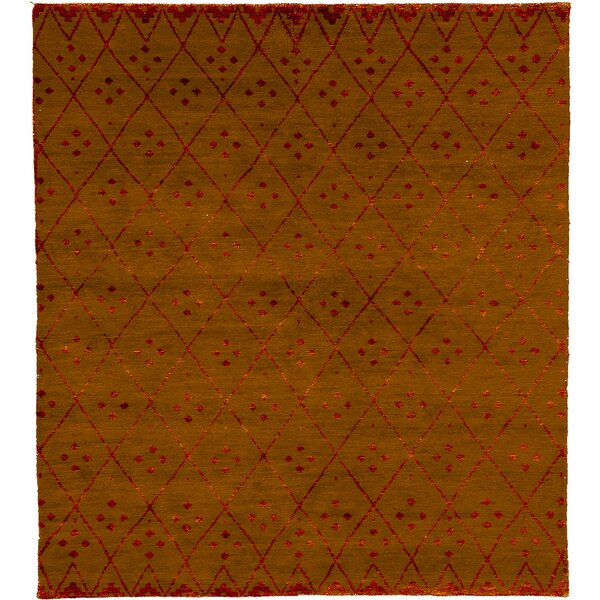 One-of-a-Kind Arazia Hand-Knotted Traditional Style Orange 12' x 18' Wool Area Rug