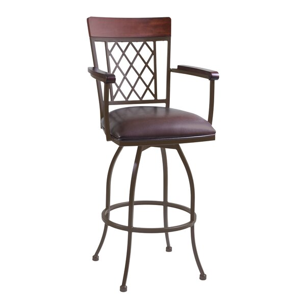 Napa 30 Swivel Bar Stool with Cushion by Armen Living