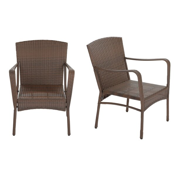 Warrick Patio Dining Chair (Set of 2) by Gracie Oaks