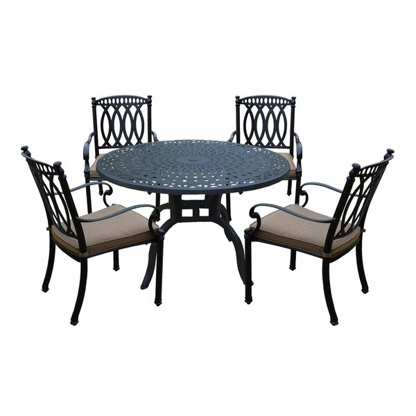 Otsego 5 Piece Rust-Free Aluminum Dining Set with Cushions by Darby Home Co