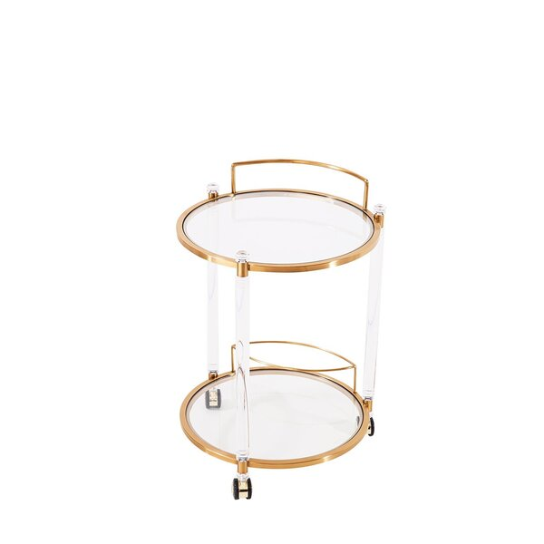Mammie Round Bar Cart by Everly Quinn