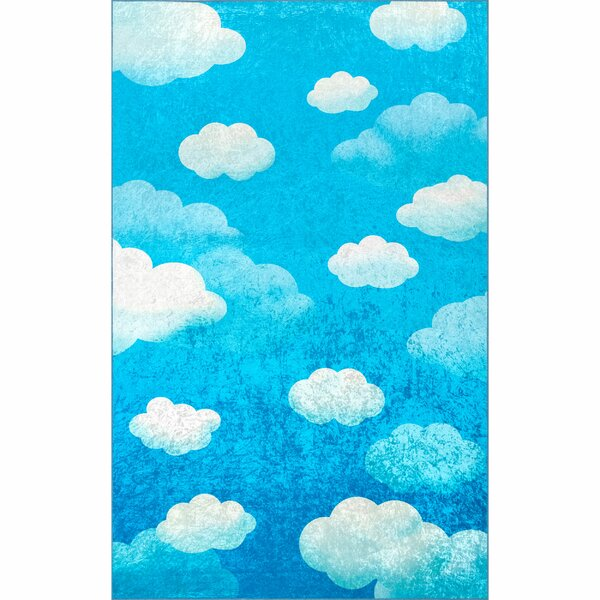Nicolette Blue Area Rug by Harriet Bee