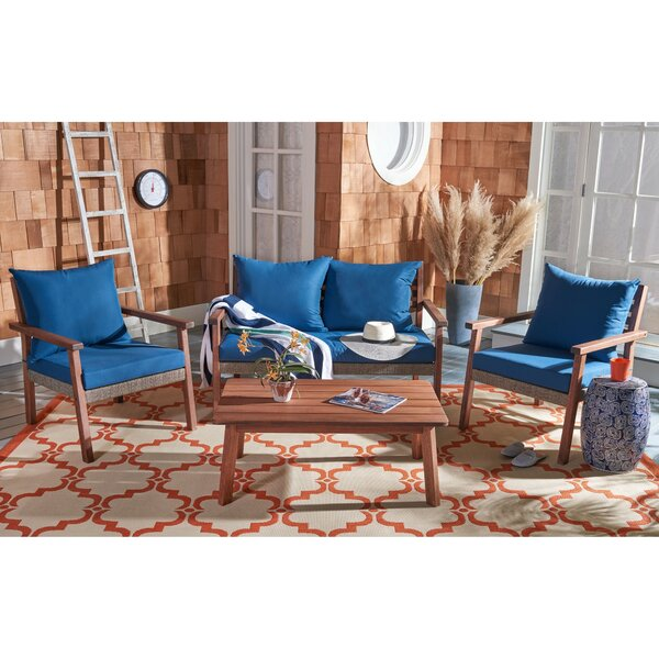 Telford 4 Piece Sofa Seating Group with Cushions by Highland Dunes