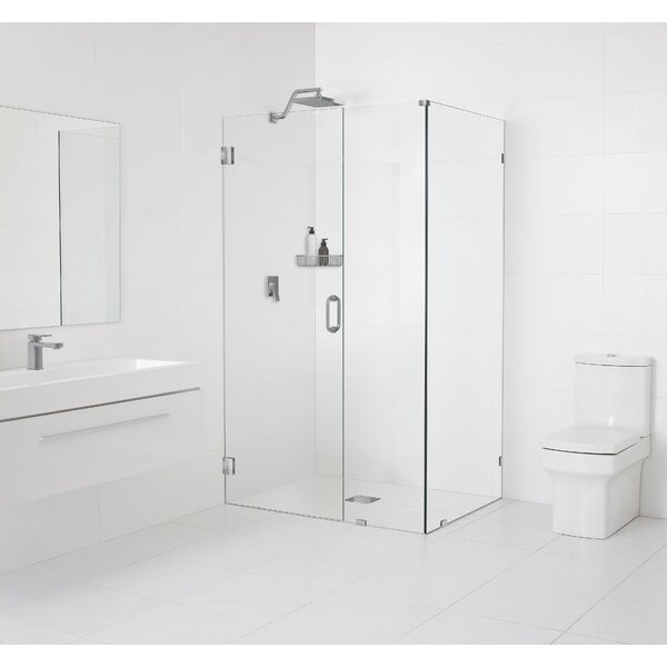 34.5 x 78 Hinged Frameless Shower Door by Glass Warehouse