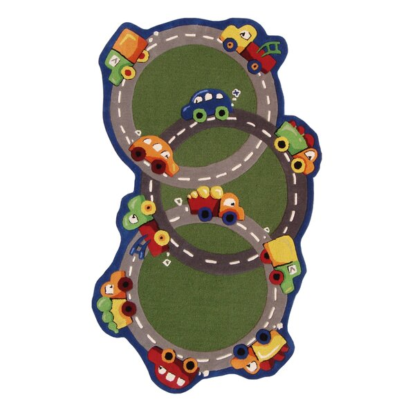 Kinder Traffic Time Green Area Rug by nuLOOM