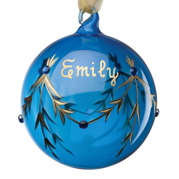 December Birthstone Personalized Ball Ornament by