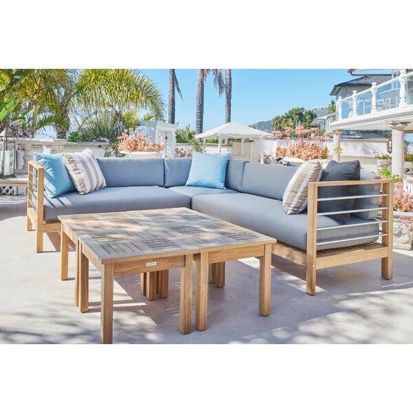 Soho Stationary Sunbrella Seating Group with Cushions by HiTeak Furniture