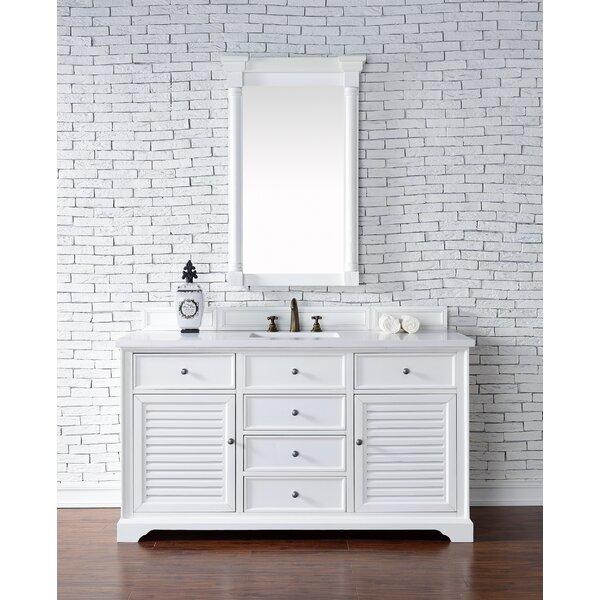Osmond 60 Single Rectangular Sink Cottage White Bathroom Vanity Set by Greyleigh