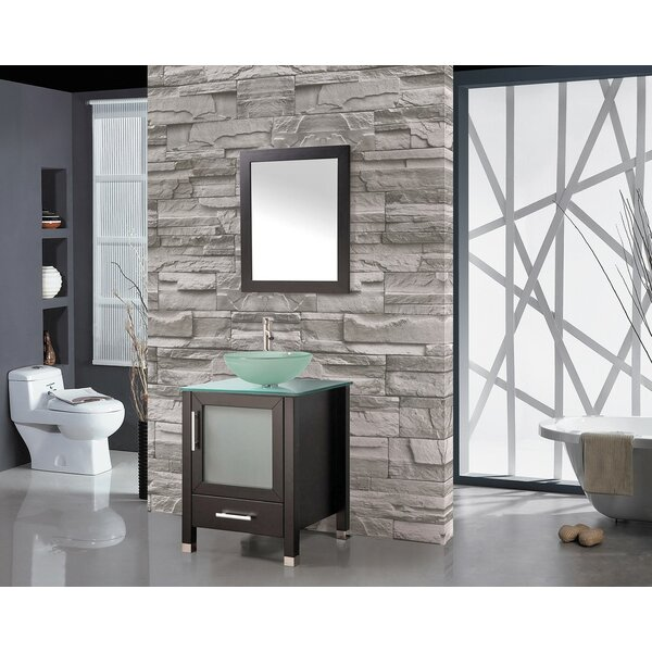 Prado Contemporary 24 Single Sink Bathroom Vanity Set with Mirror by Orren Ellis