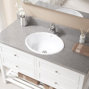 Look for Vitreous China Oval Drop-In Bathroom Sink with Overflow with Drain Assembly By MR Direct